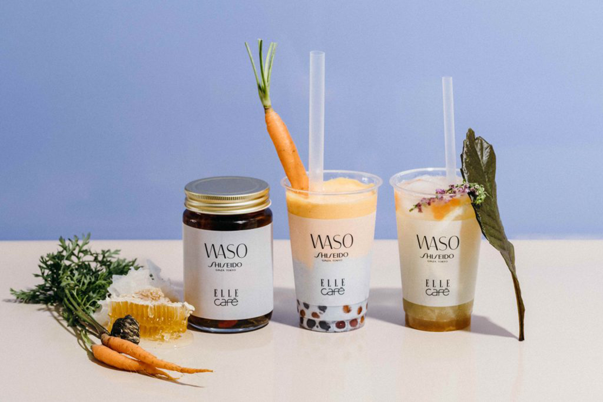 "ELLE café NEWS SHISEIDO new skincare line collaborated with ""WASO"""
